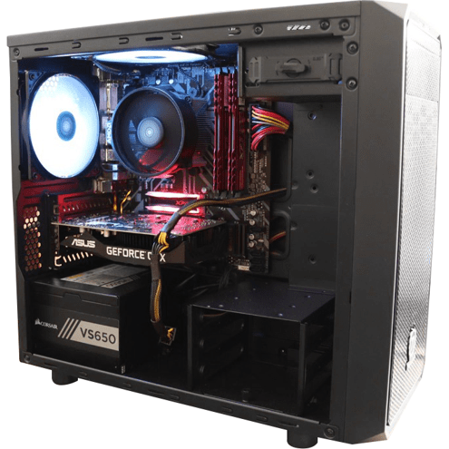 PC Gamer Cerberus Light By Barr3l Rider - Ryzen 5 2600X + Geforce GTX 1660 TI + SSD XPG RGB 512 GB