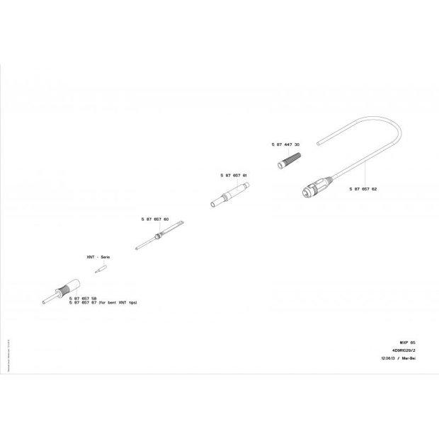 Ferro de Solda WXP65 p/ Estação WX Weller