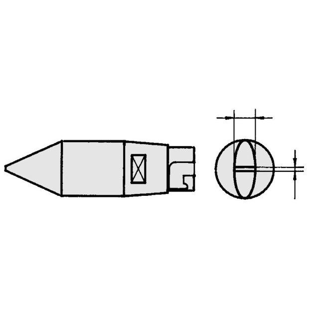HT1 - Ponta Solda Fenda 3,2mm p/ Ferro LR82 Weller