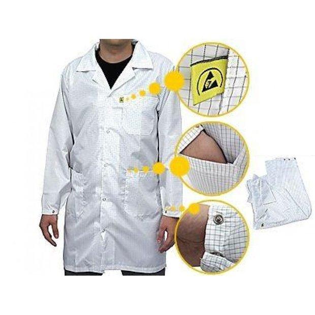 Jaleco Antiestático Lavável Avental G Branco