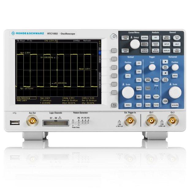 Promoção Osciloscópio 300Mhz 2 canais RTC1002 Rohde