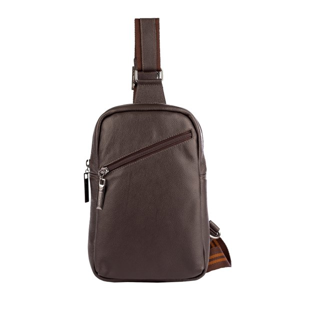 Mini mochila transversal de couro Eric