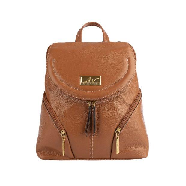 Mini mochila de couro legítimo Cecília