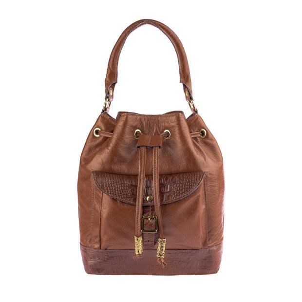 Bolsa saco em couro Natasha