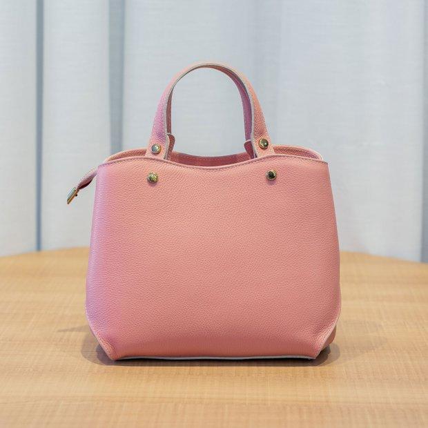 Bolsa de mão em couro Megan