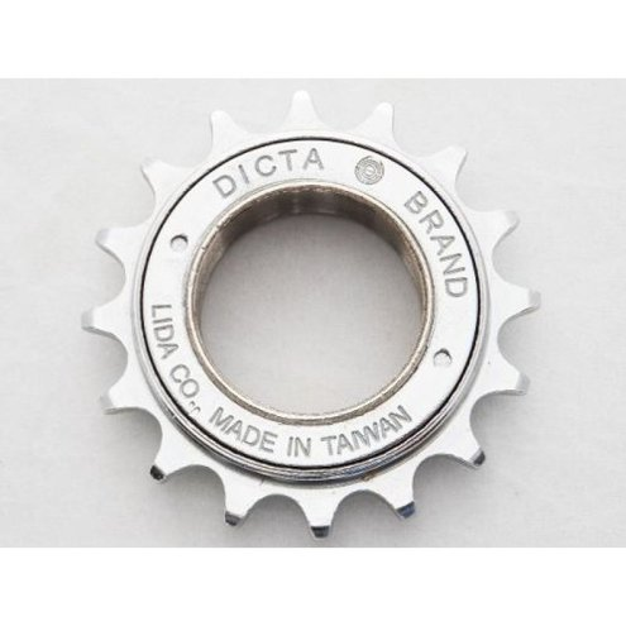 CATRACA 16D DICTA BMX CROMADA PARA CORRENTE FINA