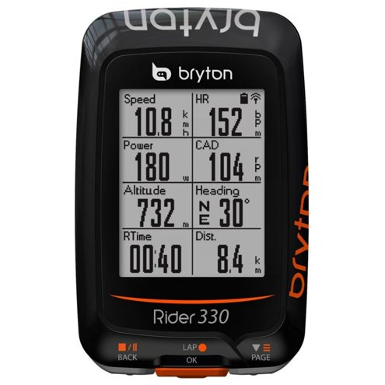 GPS BRYTON 330E 72 FUNÇÕES C/ ROTA WI-FI/BLUETOOTH 4.0/ ANT+