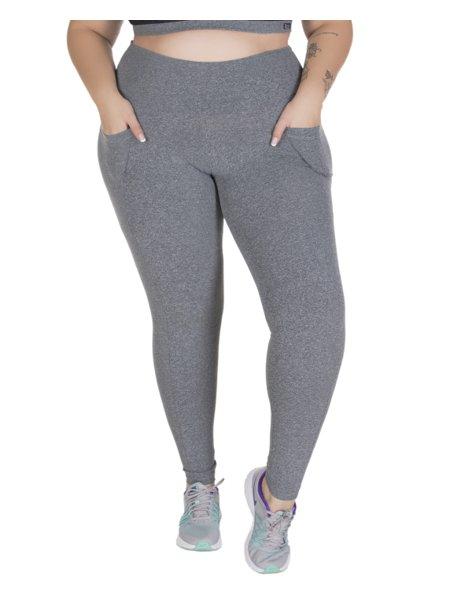 Calça Fitnes Plus Size Tamira Montaria Mescla