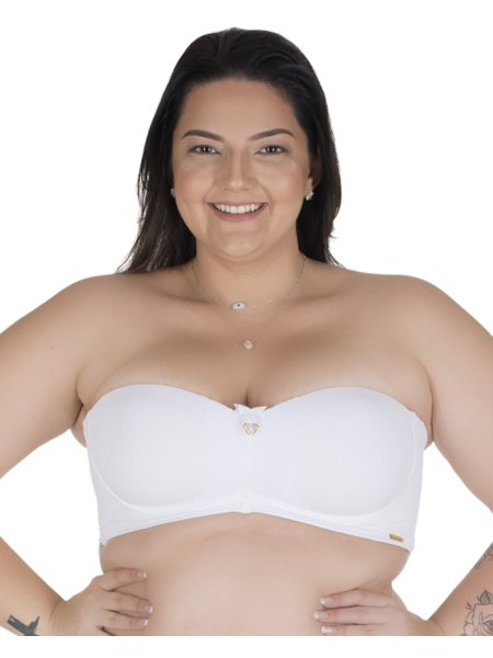 Sutiã Marcelle Tomara que Caia Plus Size Branco