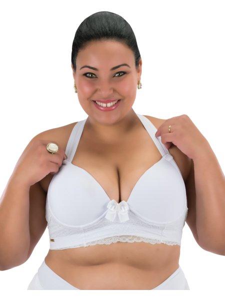 Sutiã Mary Plus Size Com Reforço Branco