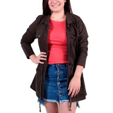 Jaqueta Voox 89 Parka Jeans Adulta Feminina