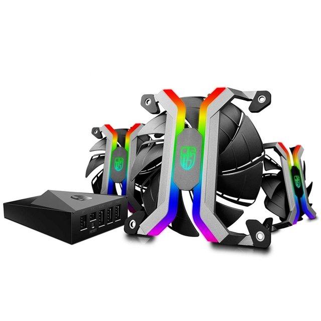 Cooler para Gabinete Deepcool MF120S Kit Com 3 Pcs - DPGS-FMF120S-M-3P