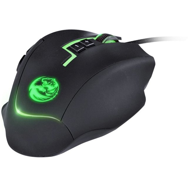 Mouse Gamer PCYes Lycan 8200 DPI Laser Botões Programáveis RGB