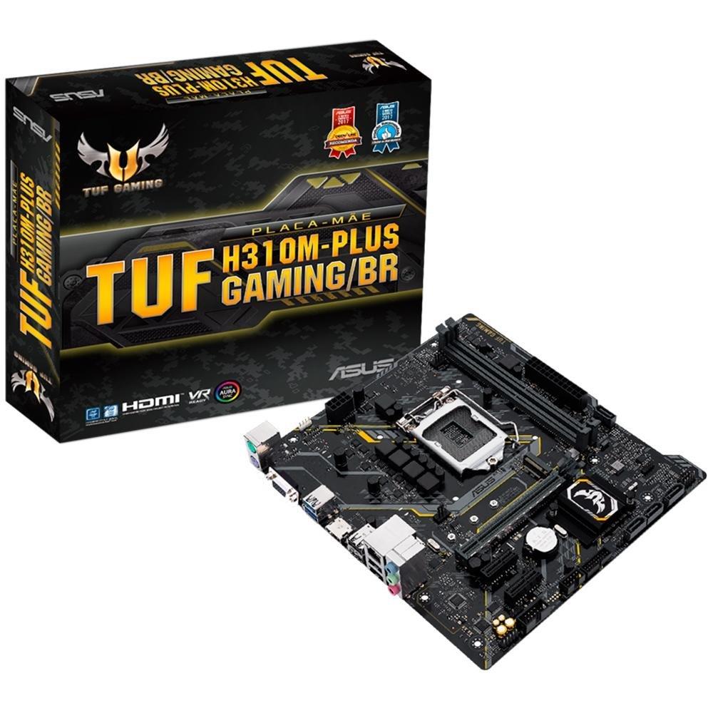 Placa-Mãe Asus TUF H310M-Plus Gaming/BR, Intel LGA 1151, mATX, DDR4
