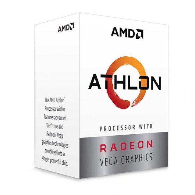 Processador AMD Ryzen Athlon 220GE 3.4Ghz Dual Core 5MB RX Vega 3 - YD220GC6FBBOX