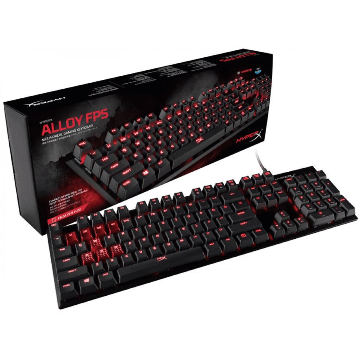 Teclado Gamer HyperX Alloy FPS Mecânico Cherry MX Blue US - HX-KB1BL1-NA/A4