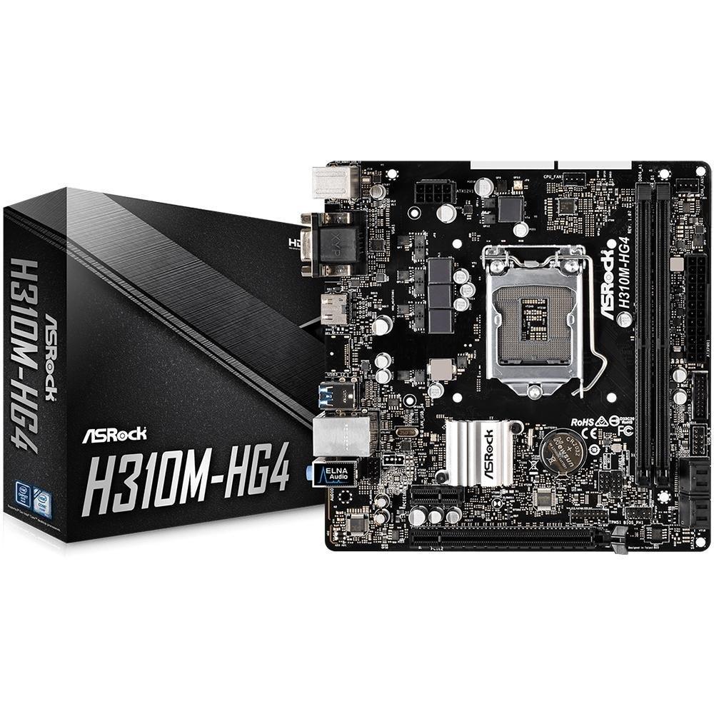 Placa-Mãe ASRock H310M-HG4, LGA 1151, DDR4