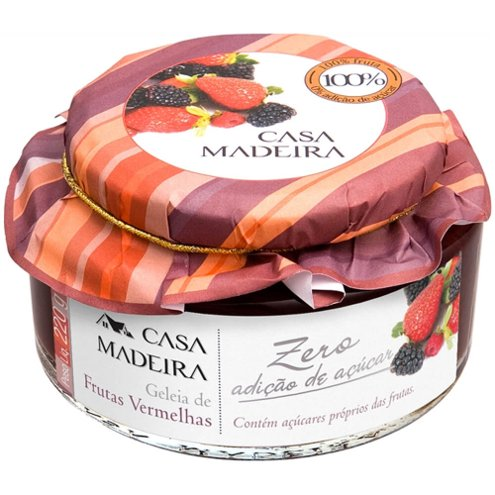 Geleia Zero Adição de Açúcar de Frutas Vermelhas Casa Madeira 220g