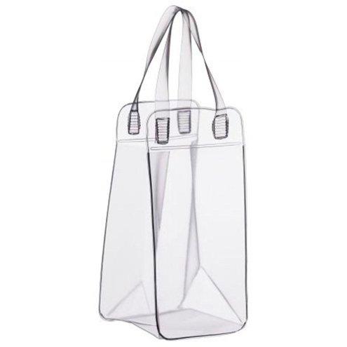 Bolsa PVC Transparente Para Gelo e 1 Garrafa
