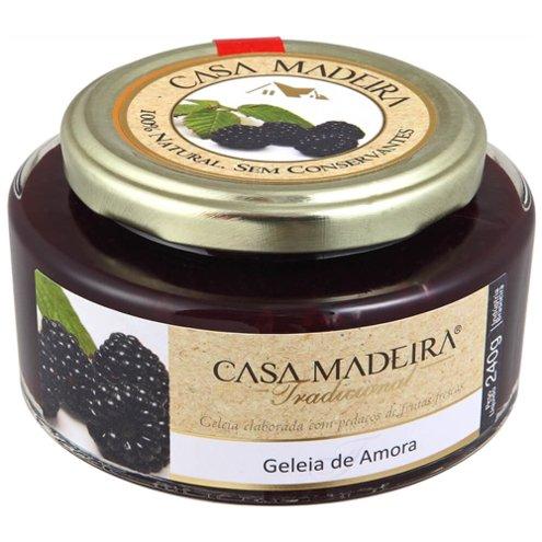 Geleia Tradicional de Amora com Pedaços Casa Madeira 240g