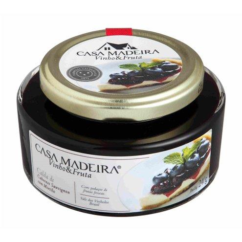 Calda de Cabernet Sauvignon com Mirtilo Vinho & Fruta Casa Madeira 240g