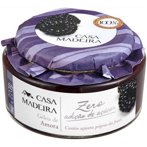 Geleia Zero Adição de Açúcar de Amora Casa Madeira 220g