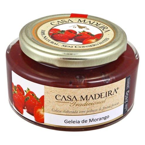 Geleia Tradicional de Morango com Pedaços Casa Madeira 240g
