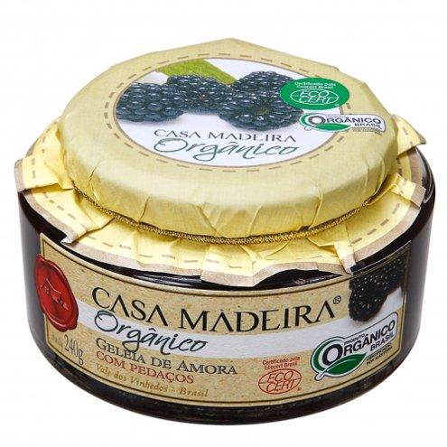 Geleia Orgânica de Amora com Pedaços Casa Madeira 240g