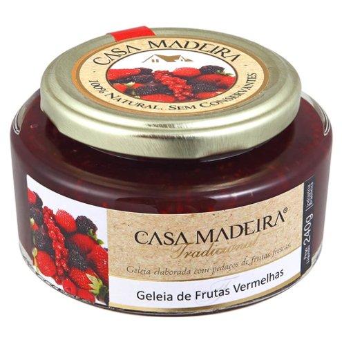 Geleia Tradicional de Frutas Vermelhas com Pedaços Casa Madeira 240g