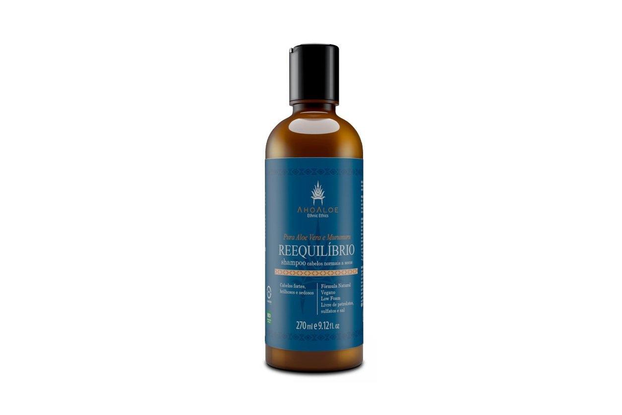 Shampoo Reequilíbrio Vegano Aloe Vera e Murumuru AhoAloe 270ml