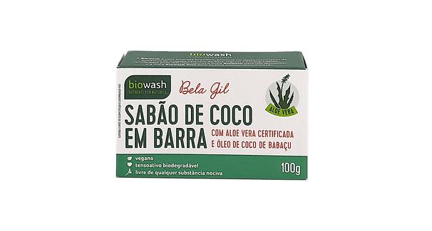 Sabão de Coco em Barra com Aloe Vera Biowash 100g