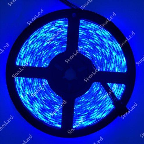 FITA LED AZUL 36W 5050 IP65 5 METROS COM FONTE