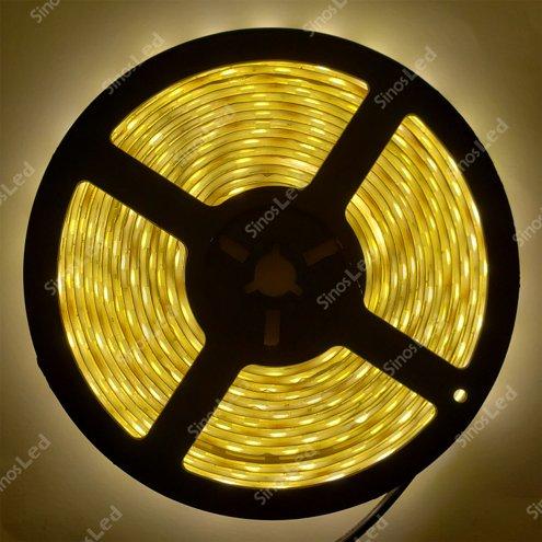 FITA LED BRANCA QUENTE 36W 5050 IP65 5 METROS SEM FONTE