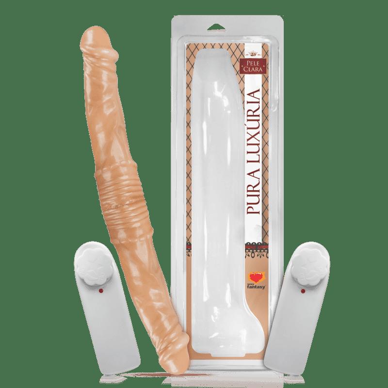 Pênis Duplo com Vibrador 40,5 x 4,5 cm Sexy Fantasy