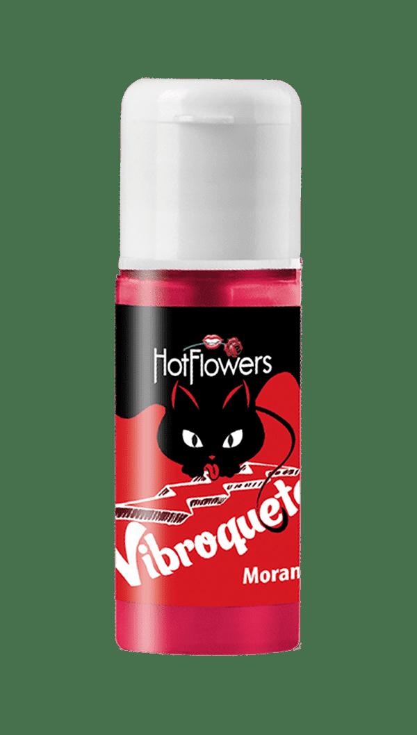 Vibroquete Vibrador Líquido Beijável Morango Hot Flowers
