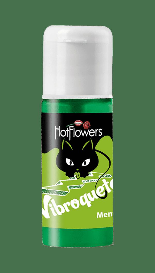 Vibroquete Vibrador Líquido Beijável Menta - Hot Flowers
